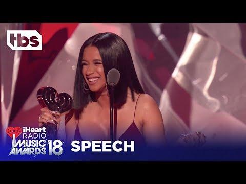 Cardi B: 2018 iHeartRadio Music Awards | Acceptance Speech | TBS