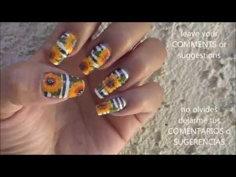 Nail Art Girasoles Videomovilescom
