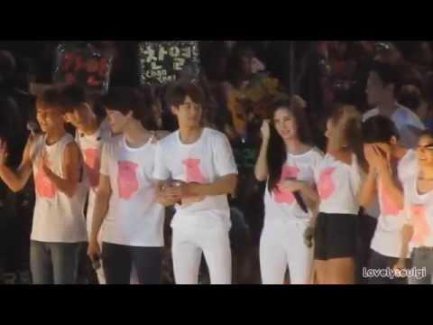 SHINee Minho SNSD Yuri (MinYul) - SM TOWN TAIWAN 150321 PART 2