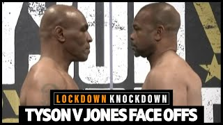 Mike Tyson v Roy Jones Jr final FACE OFF ahead of comeback fight