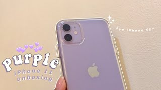 Purple iPhone 11 unboxing 🍎💜