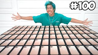 Customizing 100 iPhones, Then Giving Them Away!! 📱📞 - $100,000 (Giveaway) | ZHC