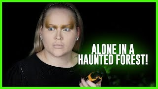 Doing My Makeup, ALONE in a HAUNTED FOREST! | NikkieTutorials