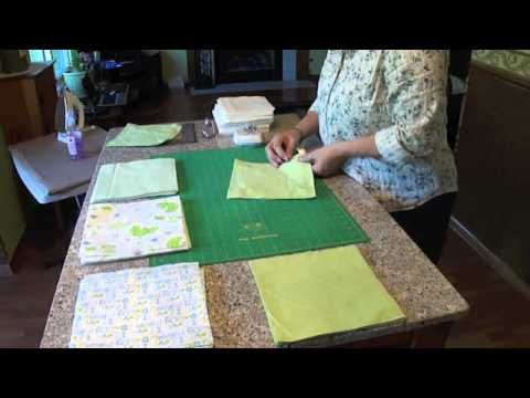 Rag Quilting Made Easy Baby Rag Quilt Video Youtube