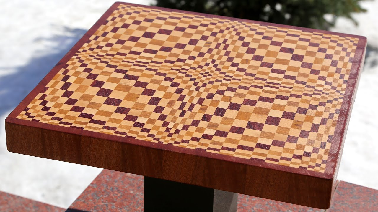 Making A Quot Wave Quot 3d End Grain Cutting Board Youtube