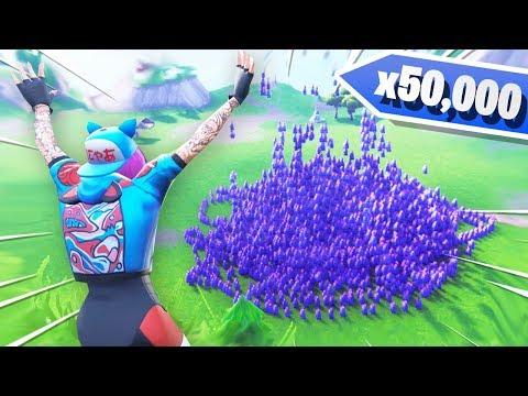 I Spawned 50,000 LLAMAS in Fortnite Creative Mode!