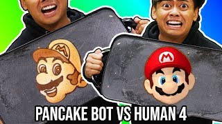 I Tried To Do Pancake Art Against A Pancake Art Robot 4!