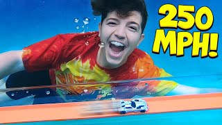 I Built the World's Fastest UNDERWATER Hot Wheels Track! (250 MPH)