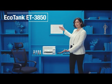 The perfect all-around printer for the home office, the EcoTank ET-3850 features cartridge-free printing, a built-in scanner, copier and ADF, fast auto 2-sided printing, and wireless connectivity.