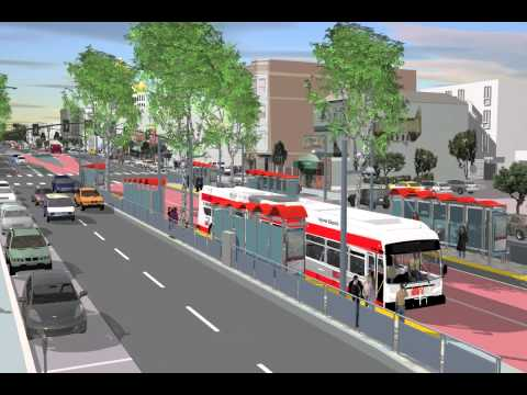 Geary Corridor Bus Rapid Transit animation