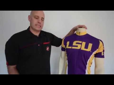 Louisiana State Tigers Cycling Jersey by Adrenaline Promotions