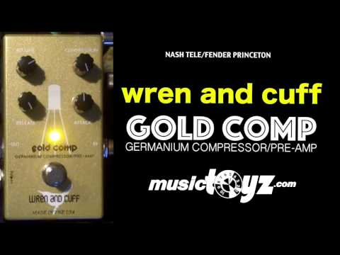 Wren and Cuff The Gold Comp Germanium Compressor/Pre-Amp Pedal