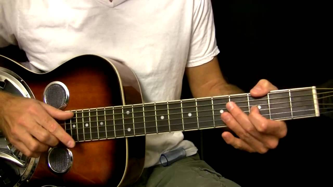easy dobro guitar lesson in open g tuning youtube. Black Bedroom Furniture Sets. Home Design Ideas