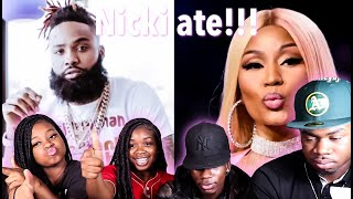 Sada Baby - Whole Lotta Choppas [Remix] ft. Nicki Minaj (Lyric Video) | REACTION
