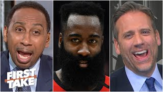 'You're so disrespectful to James Harden!' - Stephen A. blasts Max Kellerman | First Take