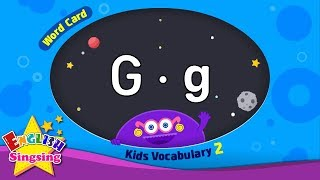 "Kids vocabulary compilation ver.2 - Words Cards starting with G, g - Repeat after ""Ting (sound)"""