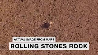 """La NASA nombra una roca en Marte """"Rolling Stones Rock"""""""