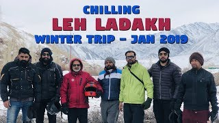 Leh Ladakh Winter Trip 2019 | Bullet Ride | Extreme Temperature -25⁰ | History Created