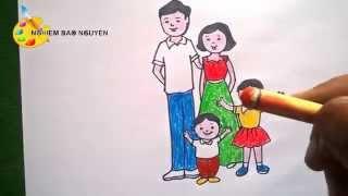 Vẽ tranh Gia đình/How to Draw Family