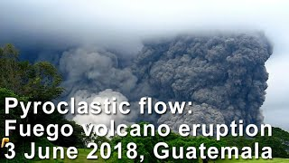 Fuego volcano eruption on 3 June 2018