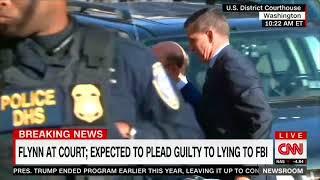 CNN Newsroom With John Berman and Poppy Harlow flynn walks courthouse 2017 12 01