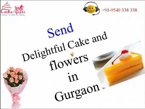 Send Delightful Cake and flowers in Gurgaon via CakenGifts.in