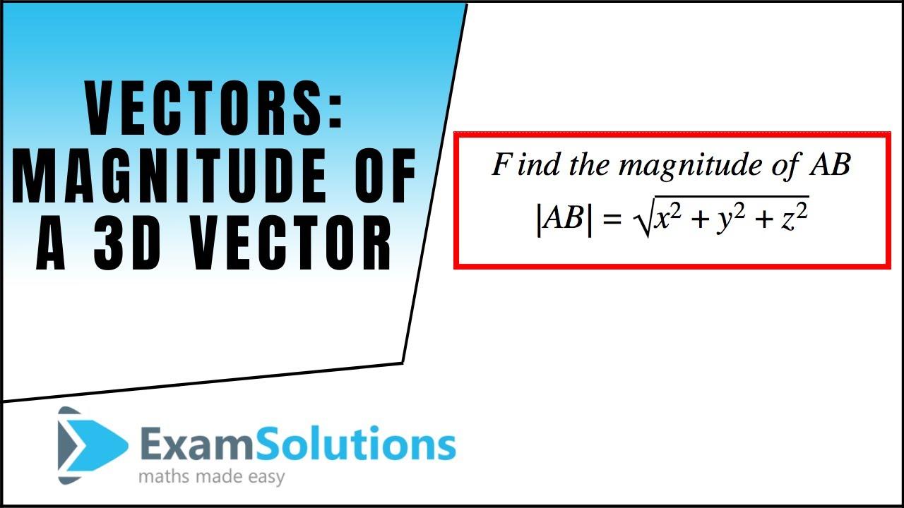 magnitude of a vector - DriverLayer Search Engine |Magnitude Two Vectors Formula