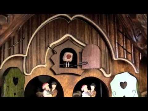 Chalet Cuckoo Clock - Animated   Water Wheel   Dancers   #86740T