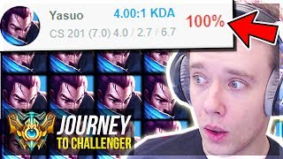 UNLEASHING MY 100% WIN RATE YASUO!!!!!!!!! - Journey To Challenger   League of Legends