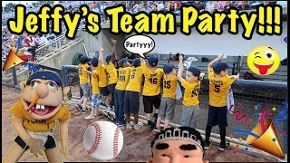 Tee-Ball TEAM PARTY!!!!! (Without The Fish)