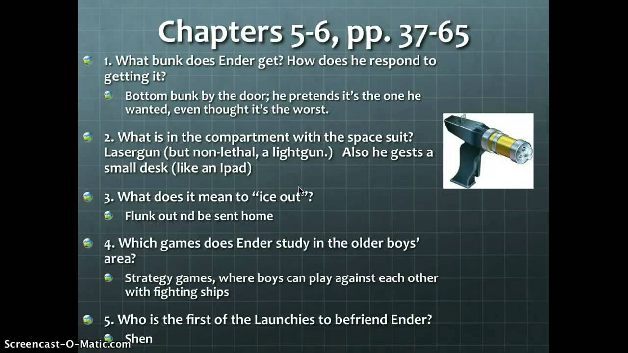 Study Guide Questions Enders Game chapters 8-10 - YouTube