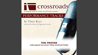 The Prayer (Performance Track with Background Vocals in D-G)