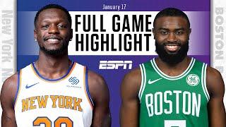 New York Knicks vs. Boston Celtics [FULL GAME HIGHLIGHTS] | NBA on ESPN