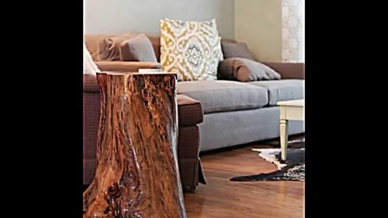 deko und m bel aus baumstamm selber machen 15 schnelle bastelideen youtube. Black Bedroom Furniture Sets. Home Design Ideas