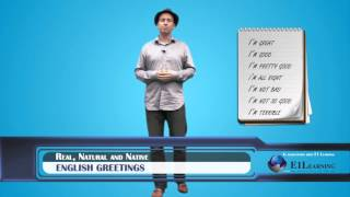 """Learn English - Don't say """"I'm fine""""! Let's learn native English greetings"""