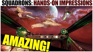 I played Star Wars Squadrons... it's INCREDIBLE!  (Impressions + Exclusive Gameplay)