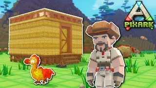 BUILDING A HOUSE & HUNTING! - PixARK Gameplay - Ark meets Minecraft building!