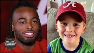 How an 8-year-old Alabama fan inspired RB Najee Harris' 5 TD game vs. Ole Miss | College GameDay