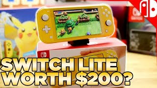 Nintendo Switch Lite Comparison, Unboxing, & Review (EARLY)