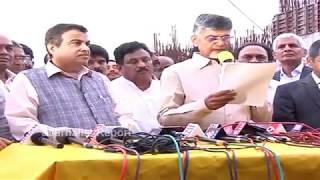 CM Chandrababu Naidu, Nitin Gadkari about On Polavaram Project Development