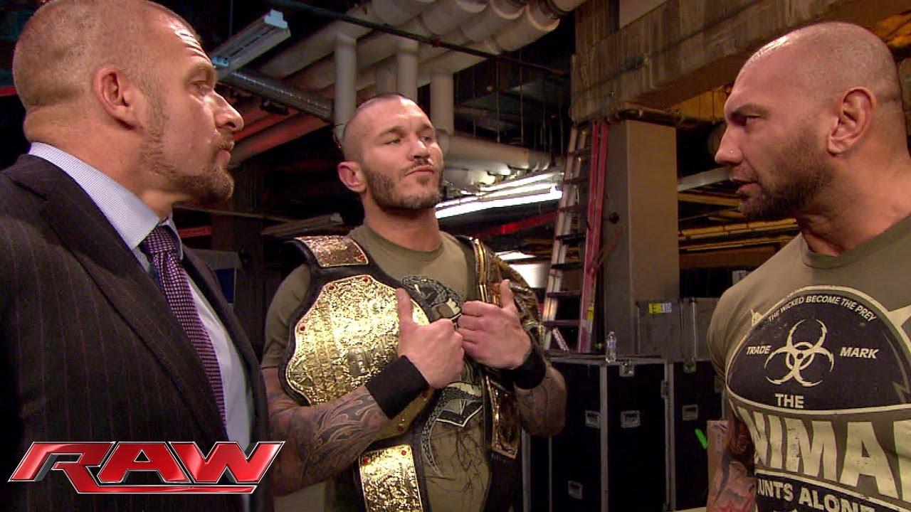 Batista confronts Randy Orton: Raw, Feb. 17, 2014 - YouTube