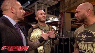 Batista confronts Randy Orton: Raw, Feb. 17, 2014