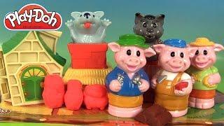 Pâte à modeler Play Doh Les trois petits cochons et le loup 3 little pigs
