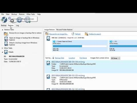 File and Folder Restore using Macrium Reflect v6