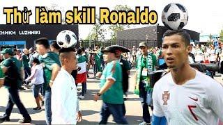 Thử Thách Bóng Đá tái hiện siêu kỹ thuật của Cristiano Ronaldo World Cup 2018