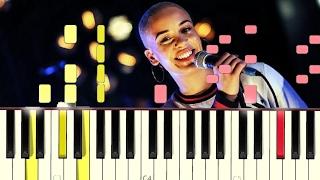 Jorja Smith - Beautiful Little Fools [#reggiewatkins synthesia piano tutorial]
