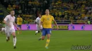Zlatan Ibrahimovic Outrageous 35-yard Overhead Kick Goal vs England // HD