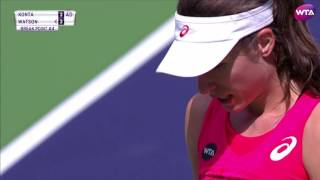 WTA R2 Highlights: Johanna Konta vs. Heather Watson