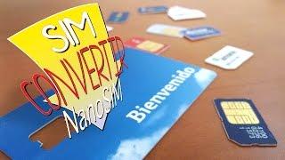 Convertir tarjetas de telefonía SIM a NANOSIM (o MicroSIM)