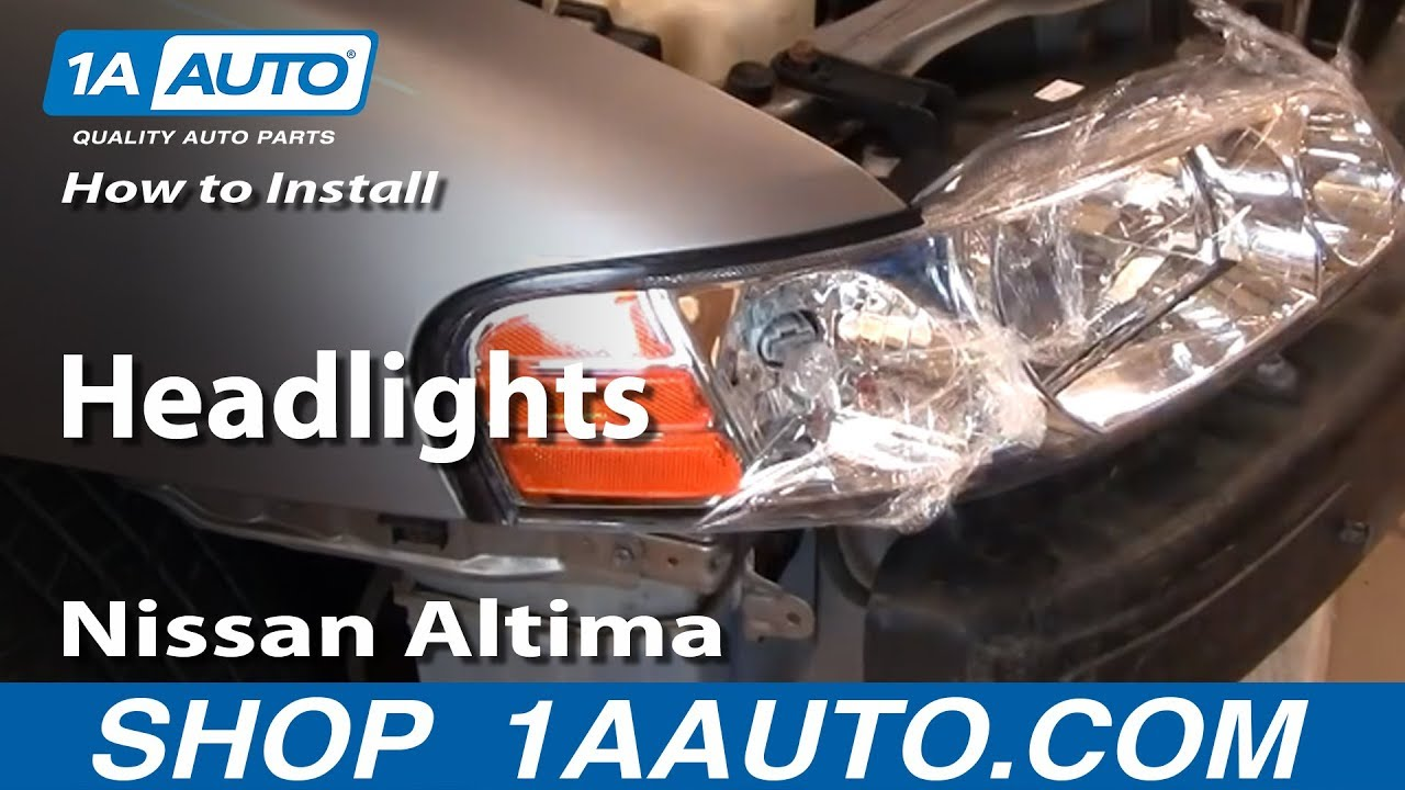 How To Install Replace Headlights Nissan Altima 00 01